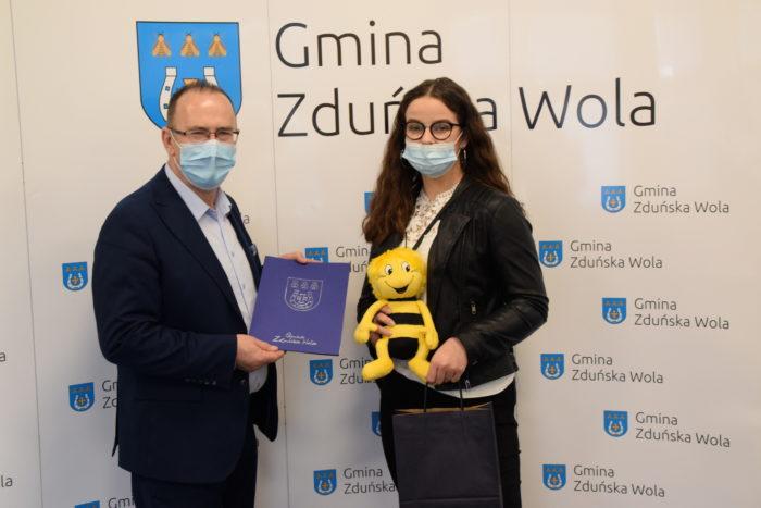 Wójt Gminy i Zuzanna Śmiglewska